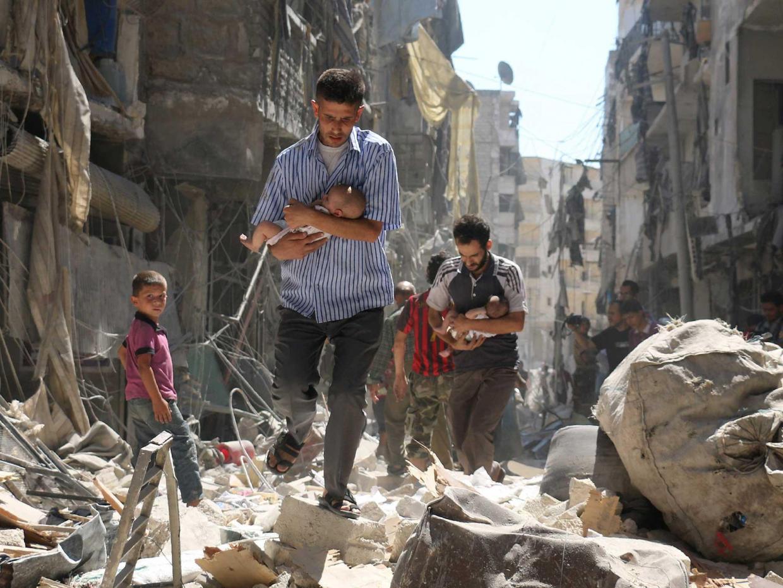 Aleppo (settembre 2016). Foto Getty.